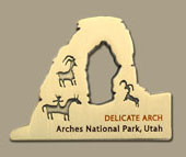 Arches National Park Geocoin (2 Coin Set) - Click Image to Close